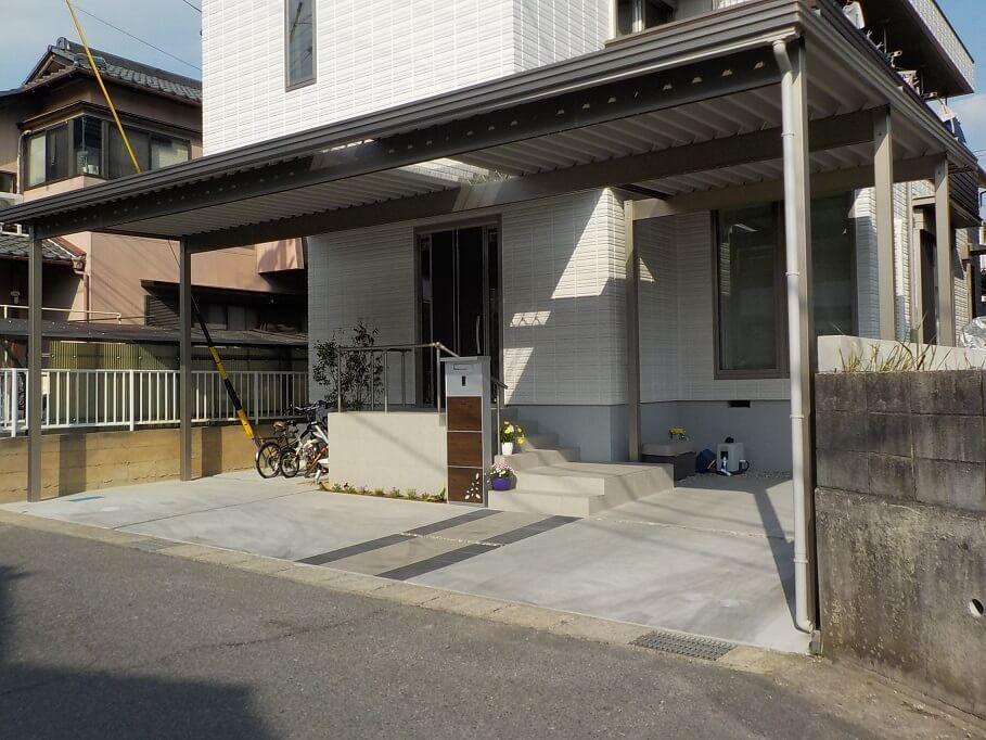 【新築エクステリア】岡崎市 ナチュラルモダン外構