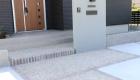 愛知県安城市の新築エクステリア;シンプルな意匠でスタイリッシュな和モダン外構