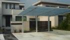 愛知県岡崎市の新築エクステリア;シックなデザインがお洒落なナチュラルモダン外構