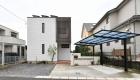 愛知県高浜市の新築エクステリア;こだわりのアクセントタイルがお洒落なナチュラルモダン外構