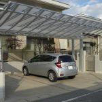 屋根の曲線がかっこいい!デザイン性の高いカーポートでワンランク上の外構へ