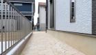 愛知県蒲郡市の新築エクステリア;お客様のこだわりが詰まったアプローチ