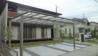 愛知県岡崎市の新築エクステリア;広々としたお庭を贅沢にデザインしたオープン外構