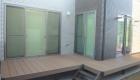 愛知県西尾市の新築エクステリア;家族でくつろげるウッドデッキのある外構