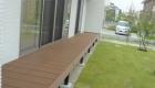 愛知県岡崎市の新築エクステリア;広々としたお庭とくつろげるウッドデッキ