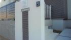 愛知県西尾市の新築エクステリア;シンプルモダンな門柱