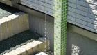 愛知県岡崎市の新築エクステリア;緑のタイルが美しい立水栓