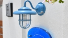 岡崎市の新築エクステリア こだわりのガラス表札と門灯