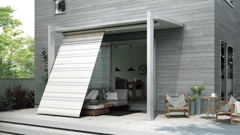 おしゃれなテラス屋根:テラスSC プライバシー性を高めてくれるスタイルシェード